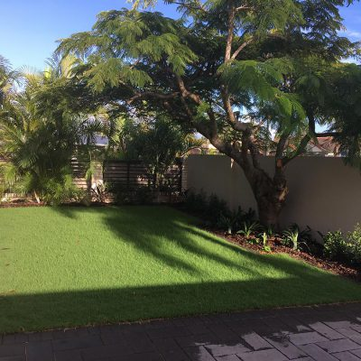 Turf, artificial turf, paving, garden edging and irrigation in Clear Island Waters.